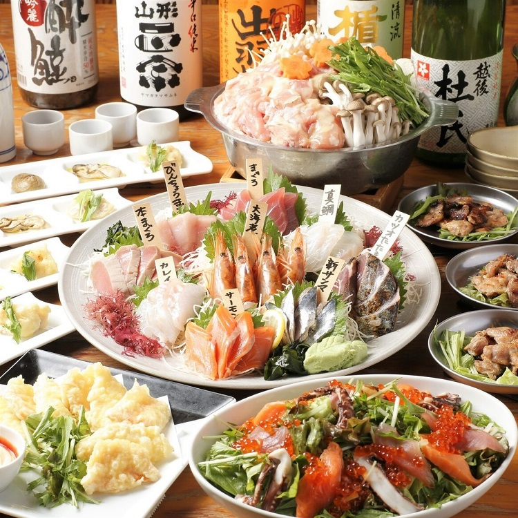 新宿三丁目の海鮮居酒屋[丸港水産]の鍋宴会コース